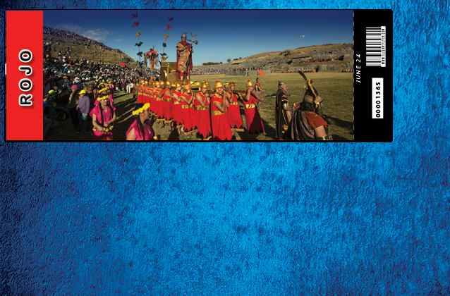 Inti Raymi 2021 ticket. Red section